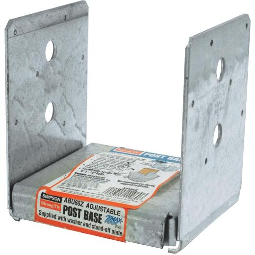 Simpson Strong-Tie 6 In. x 6 In. 12 ga Z-Max ABU Post Base