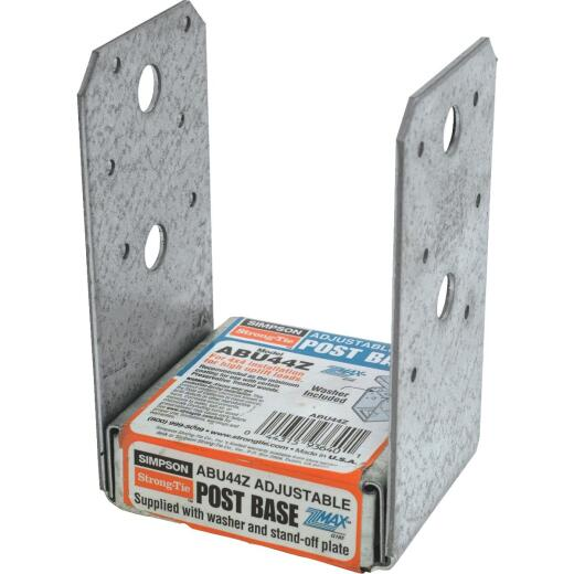 Simpson Strong-Tie 4 In. x 4 In. 12 ga Z-Max ABU Post Base