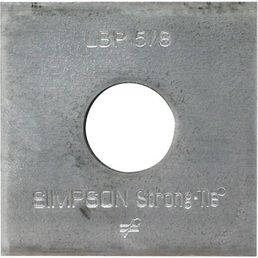 Simpson Strong-Tie 5/8 in. x 2 in. x 9/64 in. Steel Galvanized Bearing Plate