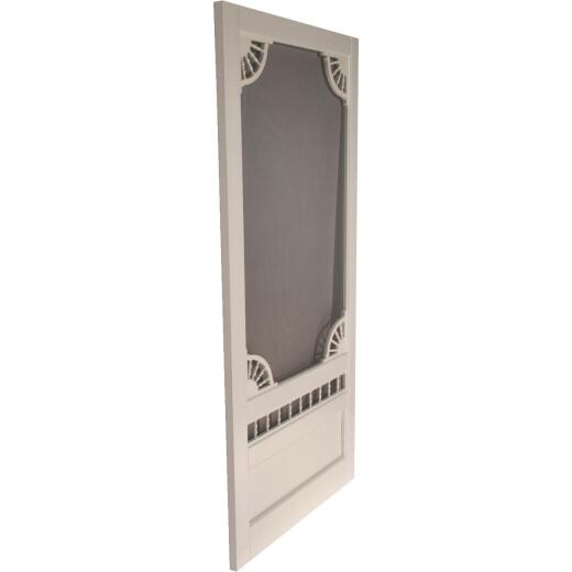 Snavely Kimberly Bay Dakota 36 In. W. x 80 In. H. x 1 In. Thick White Vinyl Screen Door