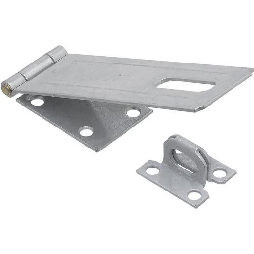 National 6 In. Galvanized Non-Swivel Safety Hasp