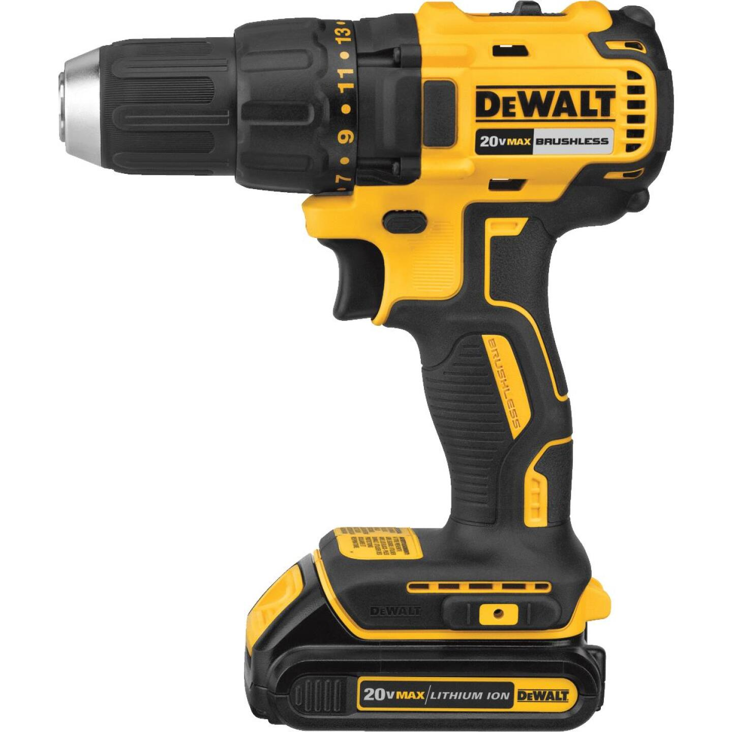 DeWalt 20 Volt MAX Lithium-Ion Brushless 1/2 In. Compact Cordless Drill Kit Image 2