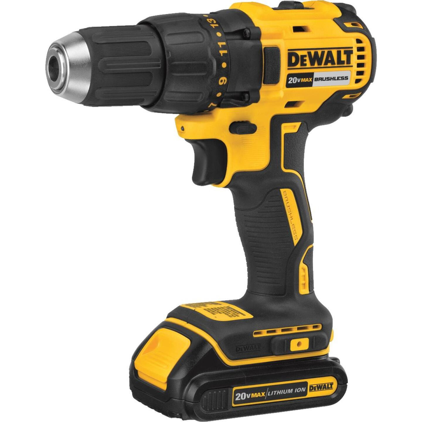 DeWalt 20 Volt MAX Lithium-Ion Brushless 1/2 In. Compact Cordless Drill Kit Image 3
