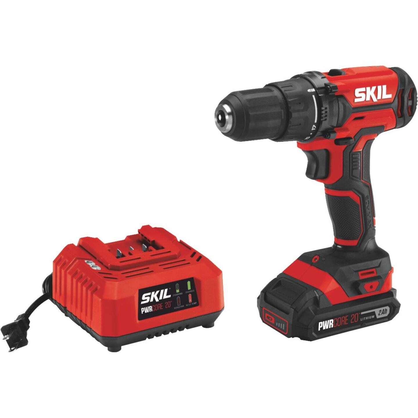 SKIL PWRCore 20 Volt Lithium-Ion 1/2 In. Cordless Drill/Driver Kit Image 1