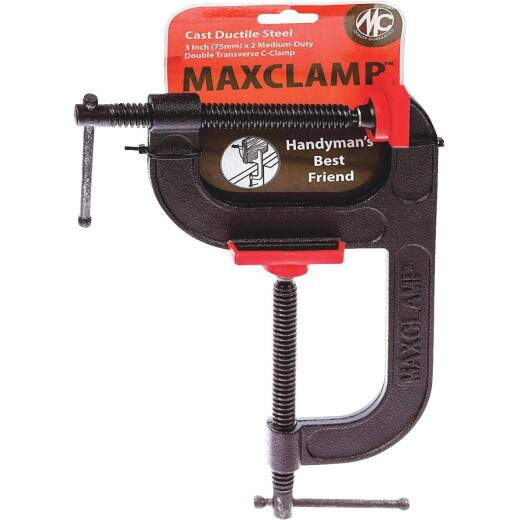 MaxClamp 3 In. x 2 In. Medium Duty Double Transverse C-Clamp