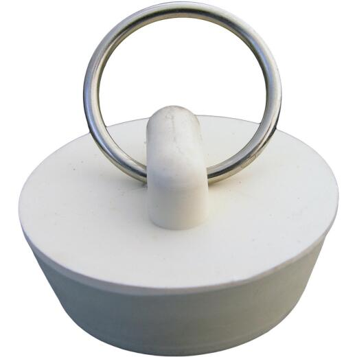 Lasco Hollow 1-1/4 In. White Sink Rubber Drain Stopper