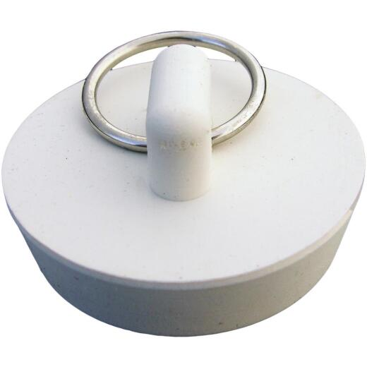 Lasco Hollow 1-3/8 In. White Sink Rubber Drain Stopper