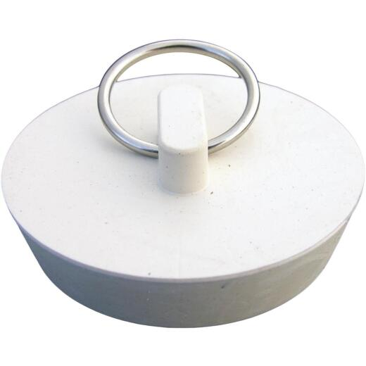 Lasco Hollow 1-3/4 In. White Sink Rubber Drain Stopper