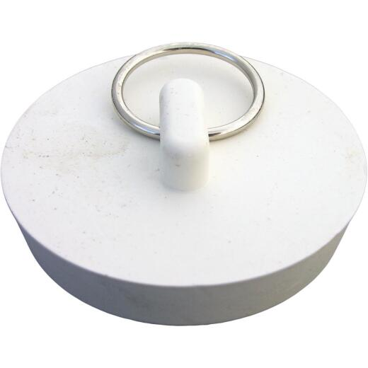 Lasco Hollow 1-7/8 In. White Sink Rubber Drain Stopper