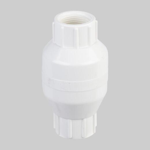 ProLine 3/4 In. PVC Schedule 40 Spring Loaded Check Valve