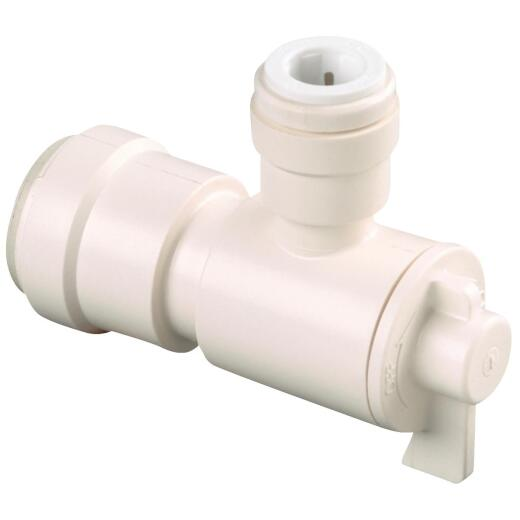 Watts 1/2 In. CTS X 1/4 In. CTS Quick Connect Stop Angle Valve