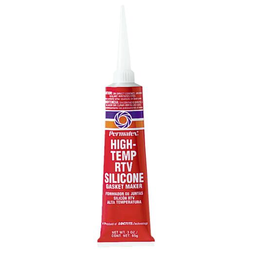 Permatex 3 Oz. High-Temp Red RTV Silicone Gasket Maker