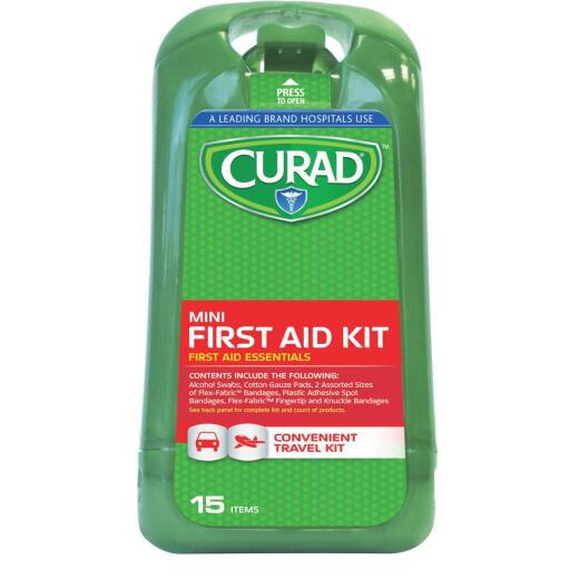 Curad Mini First Aid Kit (15-Piece)