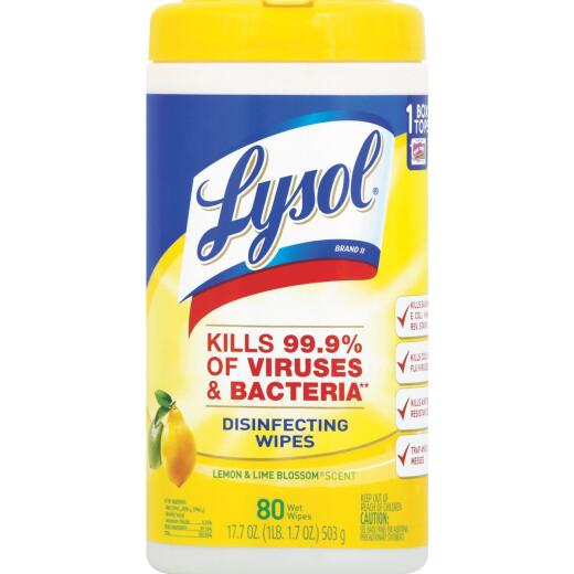 Lysol Lemon & Lime Blossom Disinfecting Wipes (80 Count)