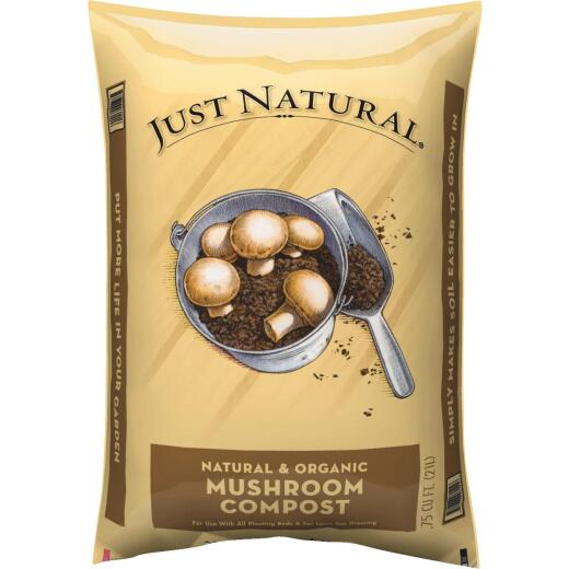 Just Natural 0.75 Cu. Ft. 40 Lb. Mushroom Compost