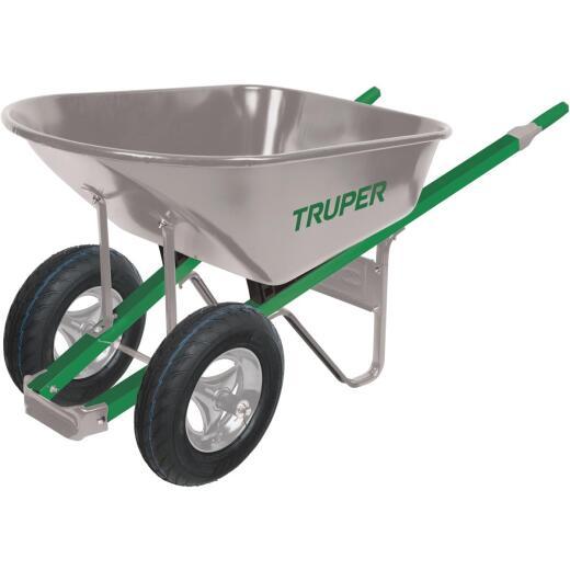 Truper Tru Tough 6 Cu. Ft. Steel Wheelbarrow