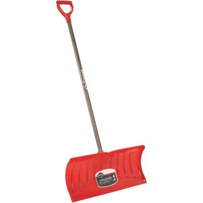 Garant Nordic 26 In. Poly Snow Pusher with 46.25 In. Wood Handle