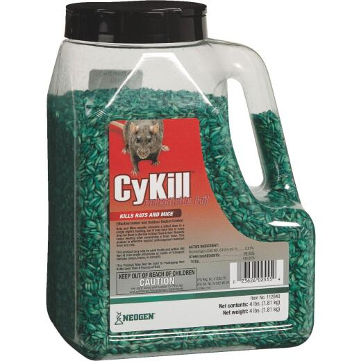 CyKill Seed Meal Bait Rat And Mouse Poison, 4 Lb.