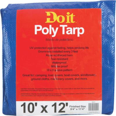 Do it Blue Woven 10 Ft. x 12 Ft. Medium Duty Poly Tarp