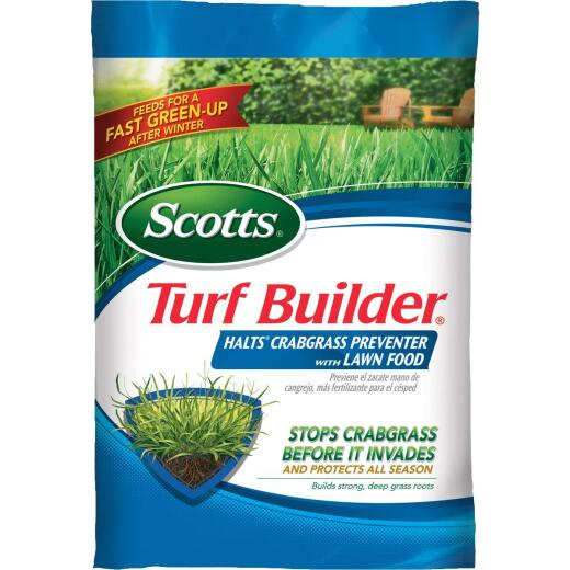 Scotts Turf Builder 40.05 Lb. 15,000 Sq. Ft. 30-0-4 Lawn Fertilizer with Halts Crabgrass Preventer