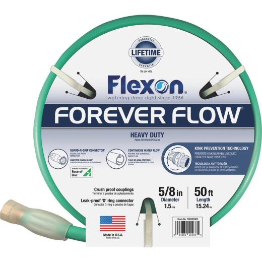 Flexon Forever Flow 5/8 In. Dia. x 50 Ft. L. Heavy-Duty Garden Hose