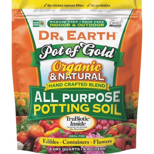 Dr. Earth Pot of Gold 8 Qt. 1/3 Lb. All Purpose Container Potting Soil