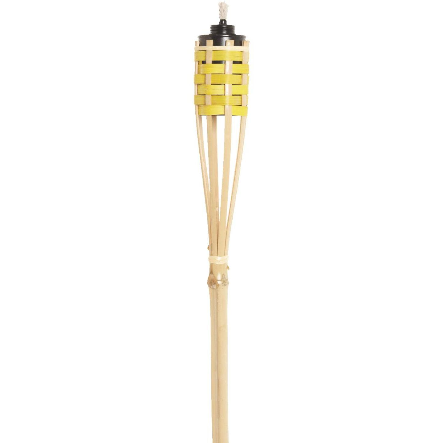 Outdoor Expressions 4 Ft. Assorted Color Bamboo Party Patio Torch Image 5