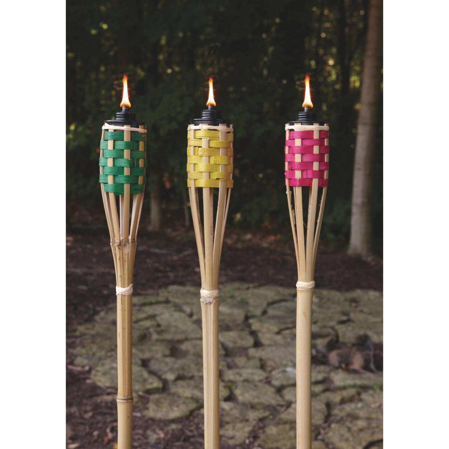 Outdoor Expressions 4 Ft. Assorted Color Bamboo Party Patio Torch Image 6