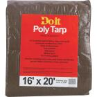 Do it Green/Brown Woven 16 Ft. x 20 Ft. Medium Duty Poly Tarp Image 1