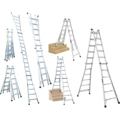 Werner 26 Ft. Aluminum Multi-Position Telescoping Ladder with 300 Lb. Load Capacity Type IA Ladder Rating