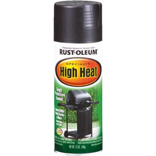 Rust-Oleum Black Satin 12 Oz. High Heat Spray Paint