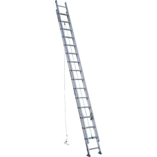 Werner 32 Ft. Aluminum Extension Ladder with 250 Lb. Load Capacity Type I Duty Rating