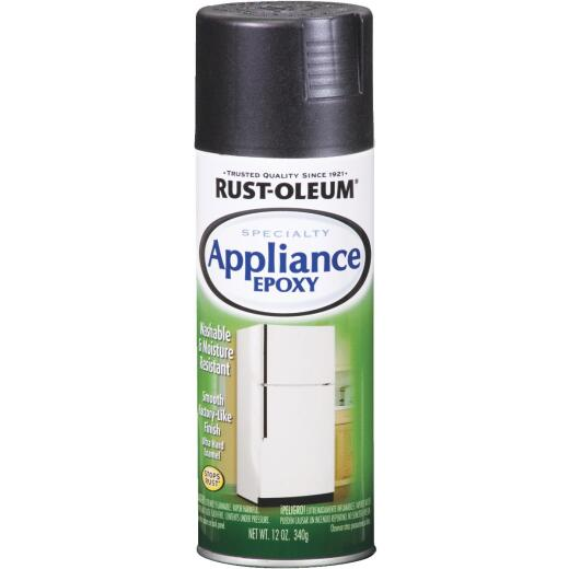 Rust-Oleum Gloss Black 12 Oz. Appliance Spray Paint