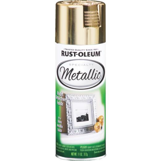 Rust-Oleum Specialty 11 Oz. Metallic Satin Spray Paint, Gold