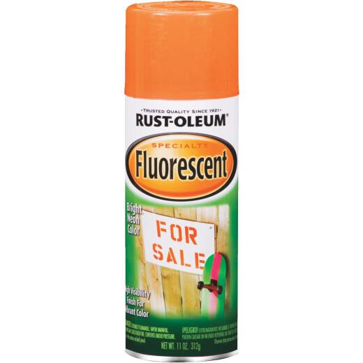 Rust-Oleum Fluorescent 11 Oz. Gloss Spray Paint, Fluorescent Orange