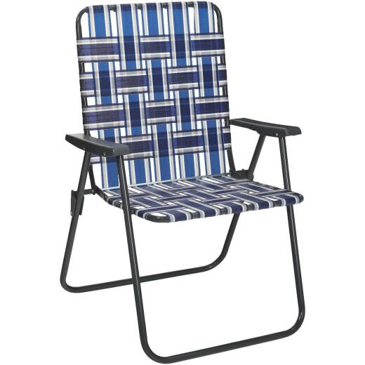 Outdoor Expressions Multi-Color Web Folding Chair