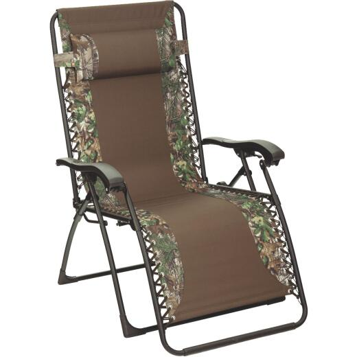 Outdoor Expressions RealTree Zero Gravity Relaxer Brown/Green Camo Convertible Lounge Chair