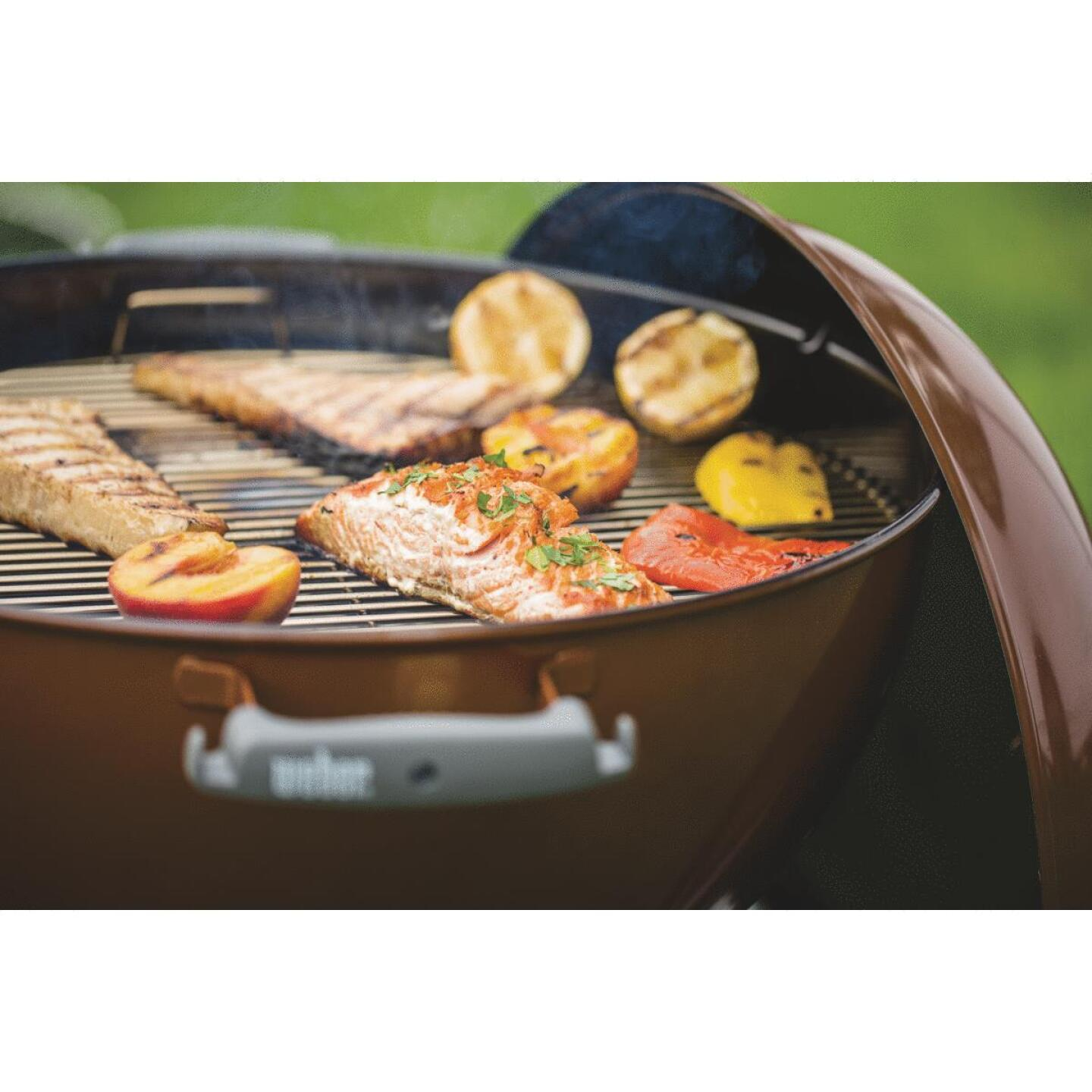 Weber Original Kettle 22 In. Dia. Copper Premium Charcoal Grill Image 2