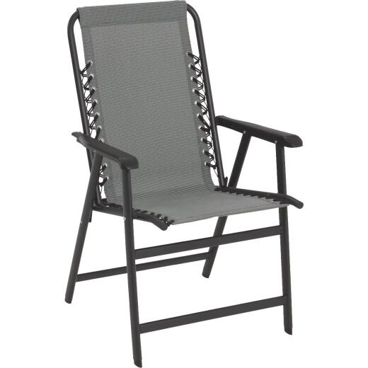 Outdoor Expressions Seville Gray Sling Folding Chair