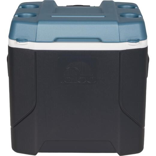 Igloo MaxCold Profile 54 Qt. 2-Wheeled Cooler, Jet Carbon & Ice Blue
